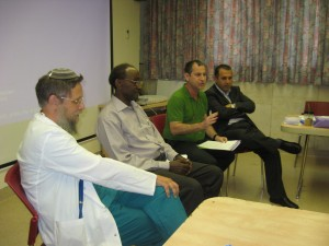 The panel with the Russian, Ethiopian and Palestinian community representatives