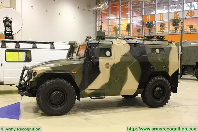 145BMA Tigr 4x4 wheeled command post armoured vehicle Russia Russian army military equipment 640 001