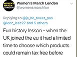 Women's March  referred to female members of parliament as 'menstruators' in a discussion about the tampon tax