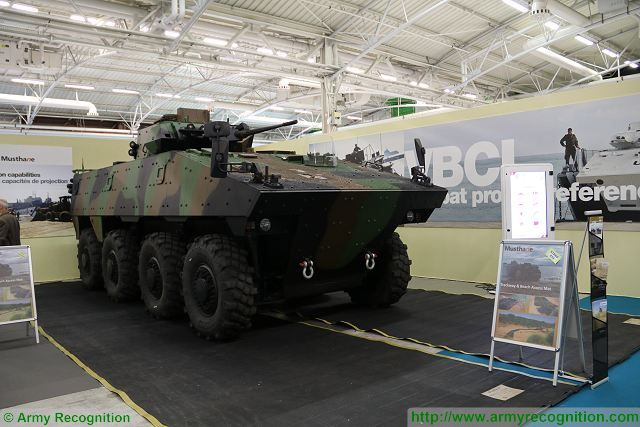 French Nexter VBCI 8x8 armored infantry fighting vehicle can be used for a wide range of missions 640 001