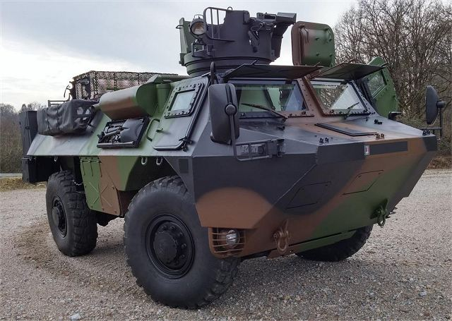 The French Renault VAB armoured vehicle in service since 40 years 640 001