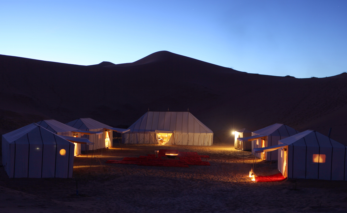 Private Camp at night
