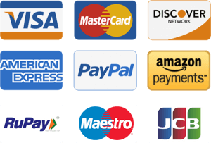 PayPal and Cards Payments Accepted