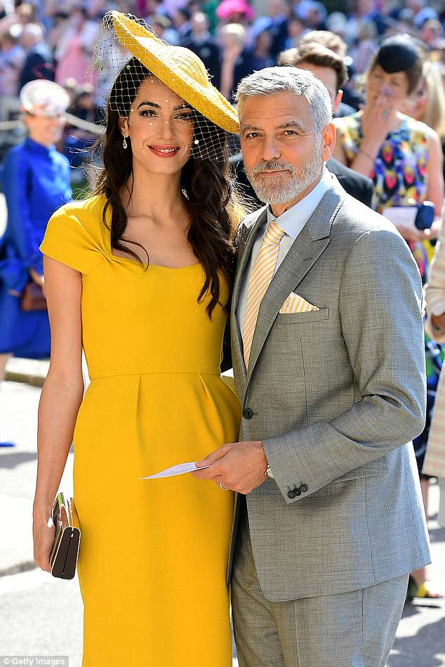 Commendable: The brunette beauty's display comes after she and her husband George, 57, donated $100,000 to the Young Center for Immigrant Children's Rights