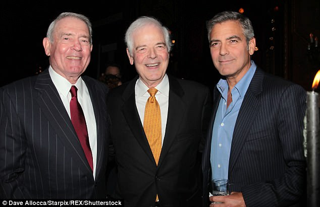 Important: Amal Clooney in Conversation with Nick Clooney (pictured centre, October 2011) will serve as the pair's first public appearance and is set to discuss human rights issues