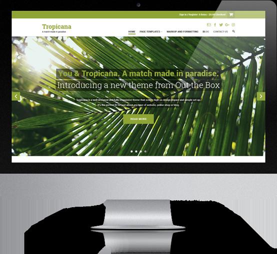 Tropicana WordPress theme