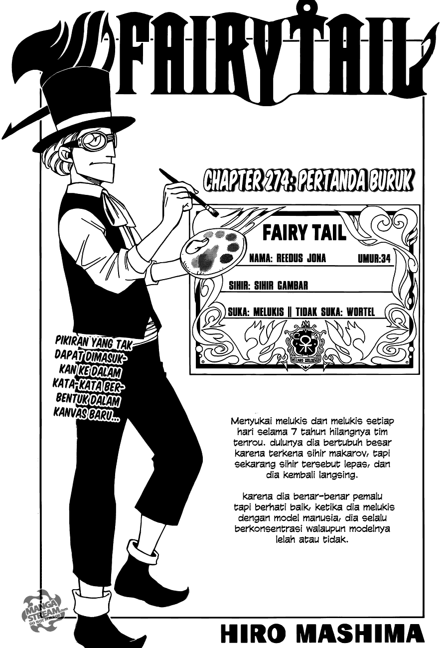 Page01 Fairy Tail 274   Pertanda Buruk