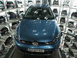 Some 15,000 German jobs depend on car exports to Britain, leaving cities such as Wolfsburg - the home of Volkswagen (pictured, the VW factory) - under threat