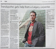 Trend Hunter and Jeremy Gutsche Profile in The Globe and Mail(National)