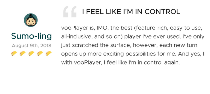 Lifetime Access to vooPlayer
