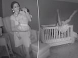 Video shows a mother comforting her child in his nursery one night last August