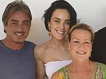 'She was an incredibly special person': Sarah Budge (left) with her late mother Leone, partner John Ibrahim and her brother Jack Budge