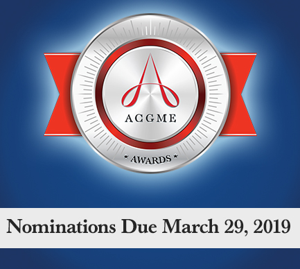 <p style=&quot;font-size:.80em; margin-bottom:0px;&quot;>2020 ACGME Award Nominations Open</p>
