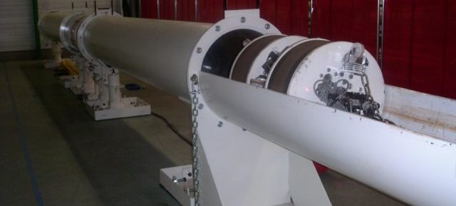pusher robot for nuclear plant for waste of nuclear plant