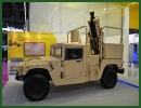 At Eurosatory 2014, the Israeli Defense Company Elbit Systems has showcased its latest autonomous 120mm Recoil Mortar System (RMS) for lightweight 4x4 combat vehicles. The mortar system was mounted on an HUMVEE 4x4 light tactical vehicle.