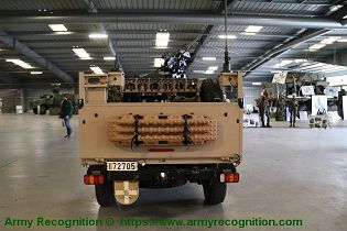 FOX RRV Rapid Reaction Vehicle Jankel 4x4 light tactical vehicle United Kingdom industry rear view 002
