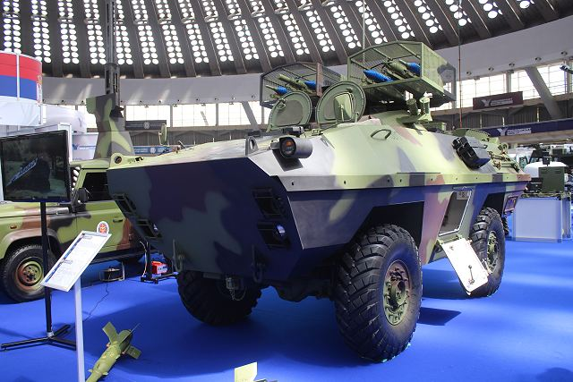 M83 BOV anti-tank guided missile carrier Partner 2015 defense exhibition Belgrade Serbia 640 002