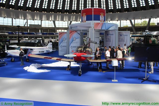 Sova trainer light attack aircraft Partner 2015 fair armament military equipment defens exhibition Serbia Belgrade 640 001