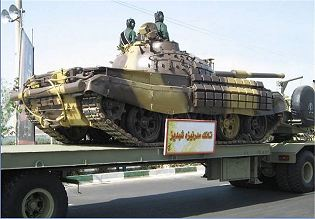 Safir-74 T-72Z Type 72Z main battle tank technical data sheet specifications description information intelligence identification pictures photos video Iran Iranian army defence industry military technology