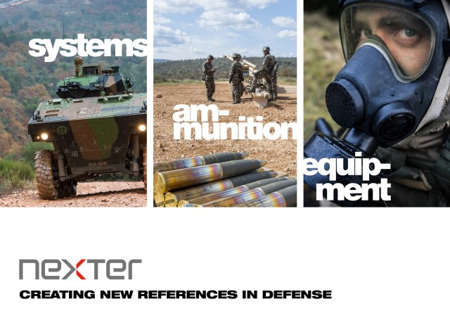 Nexter Systems land forces army military equipment systems vehicles French Defence Company France 640 002