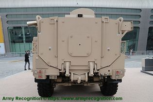 JAIS 4x4 modular MRAP Mine Resistant Ambush Protected Vehicle APC NIMR Automotive UAE rear view 001