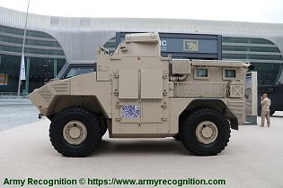 JAIS 4x4 modular MRAP Mine Resistant Ambush Protected Vehicle APC NIMR Automotive UAE left side view 001