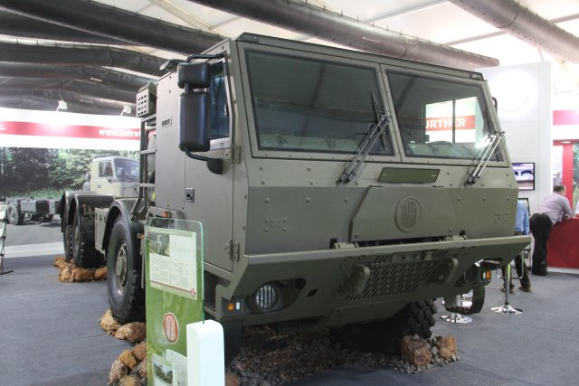 Tatra showcased its 8X8 High Mobility Heavy Duty Tactical Truck at DefExpo 2016 640 001