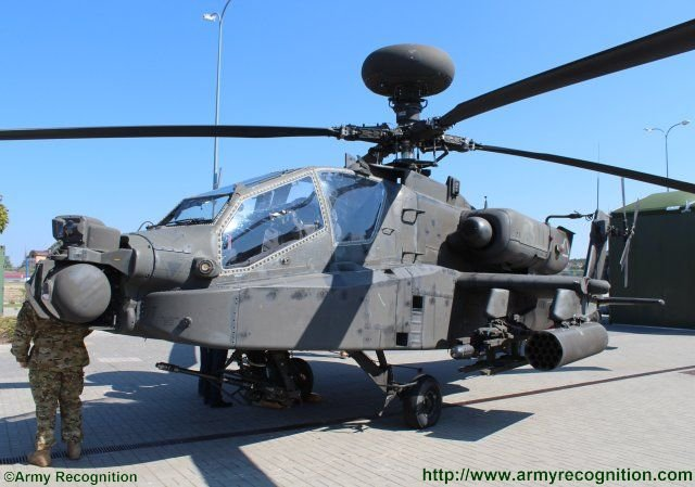 Boeing famous Apache AH 64 attack helicopter makes debuts at MSPO 2015 exhibition 640 001