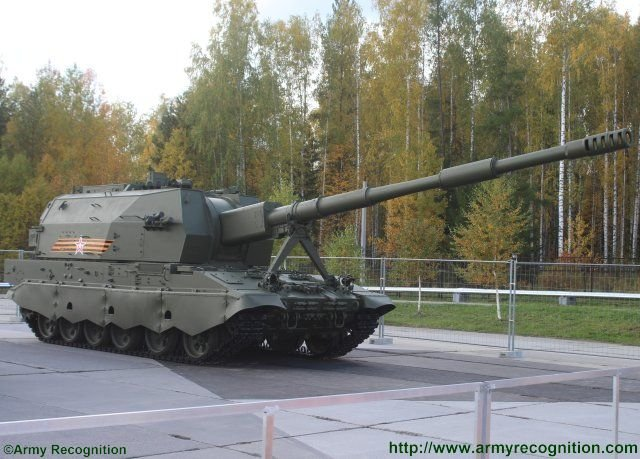 Brand new 2S35 Koalitsiya SV self propelled howitzer showcased for the first time in exhibition 640 001