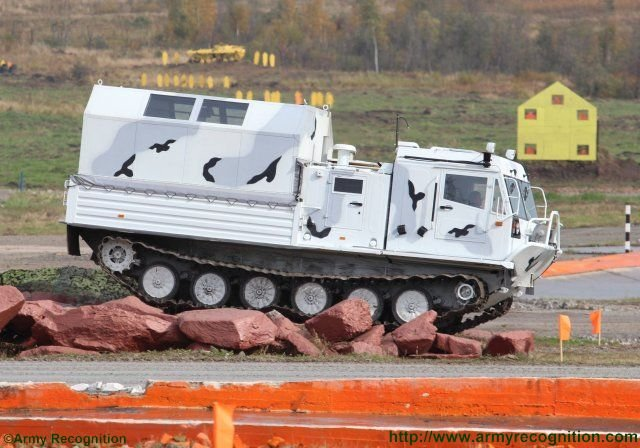 CHETRA PM s TM 140 tracked all terrain vehicle showcased in live demonstration in Russia 640 001