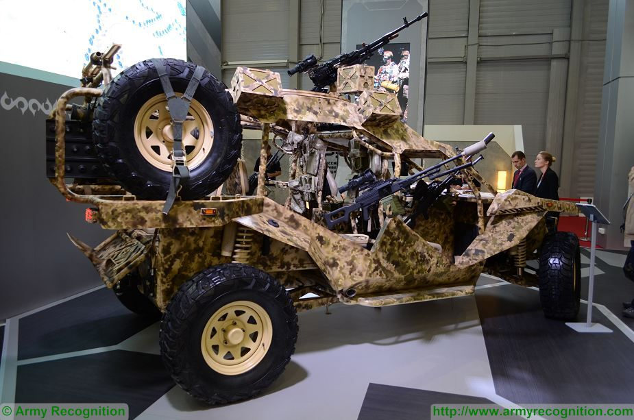 Chechnya's special purpose force training center has presented Chaborz M-6, a new, locally manufactured, six-seat buggy at Army-2017. The M-6 is armed with 7.62mm «Pecheneg» machine gun mounted on each side of the vehicle and ne 12,7 mm «Kord» heavy machine gun mounted on the roof which has a traverse of 360°.