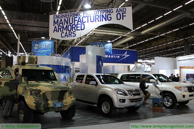 IAG International Armored Group APC armouring cars Eurosatory 2016 defense exhibition Paris France 640 001