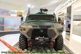 Ajban Class 440A 4x4 wheeled light tactical protected vehicle United Arab Emirates front view 001
