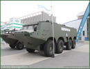 At MSPO 2013, International Defense Exhibition in Poland, AMZ brought its Hipopotam 8x8 amphibious armoured transporter. Unveiled last year at MSPO, the vehicle is still in development.
