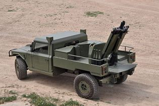 eimos expal integrated mortar 81mm 60 mm system for light wheeled vehicle Spain Spanish left side view 002