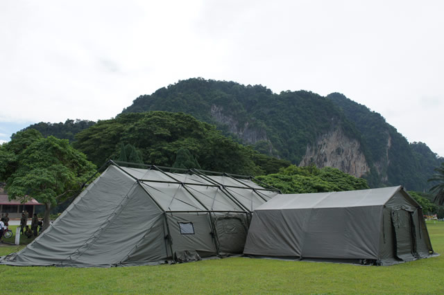 Field military army rapid deploy CBRN COLDPRO shelters tent Utilis data sheet specifications information description intelligence identification pictures photos images video France French Defence Industry army military technology