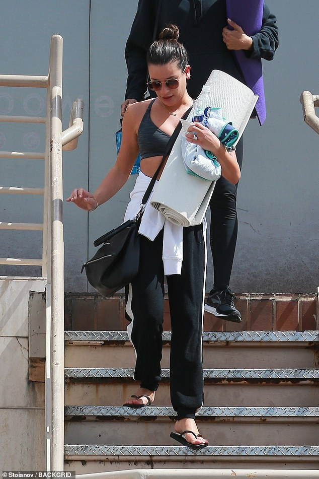 Fitness beauty:Lea Michele, 32, was spotted leaving a yoga session in Los Angeles on Thursday