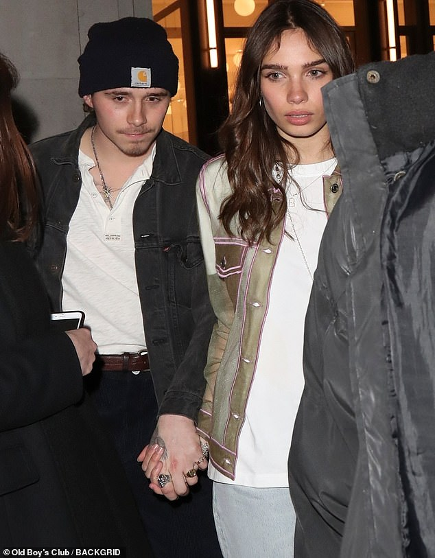 It's real love: The pair were seen holding hands when they left the event in each other's charming company