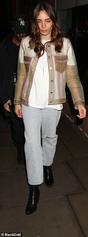 Busy: She attended two parties across London