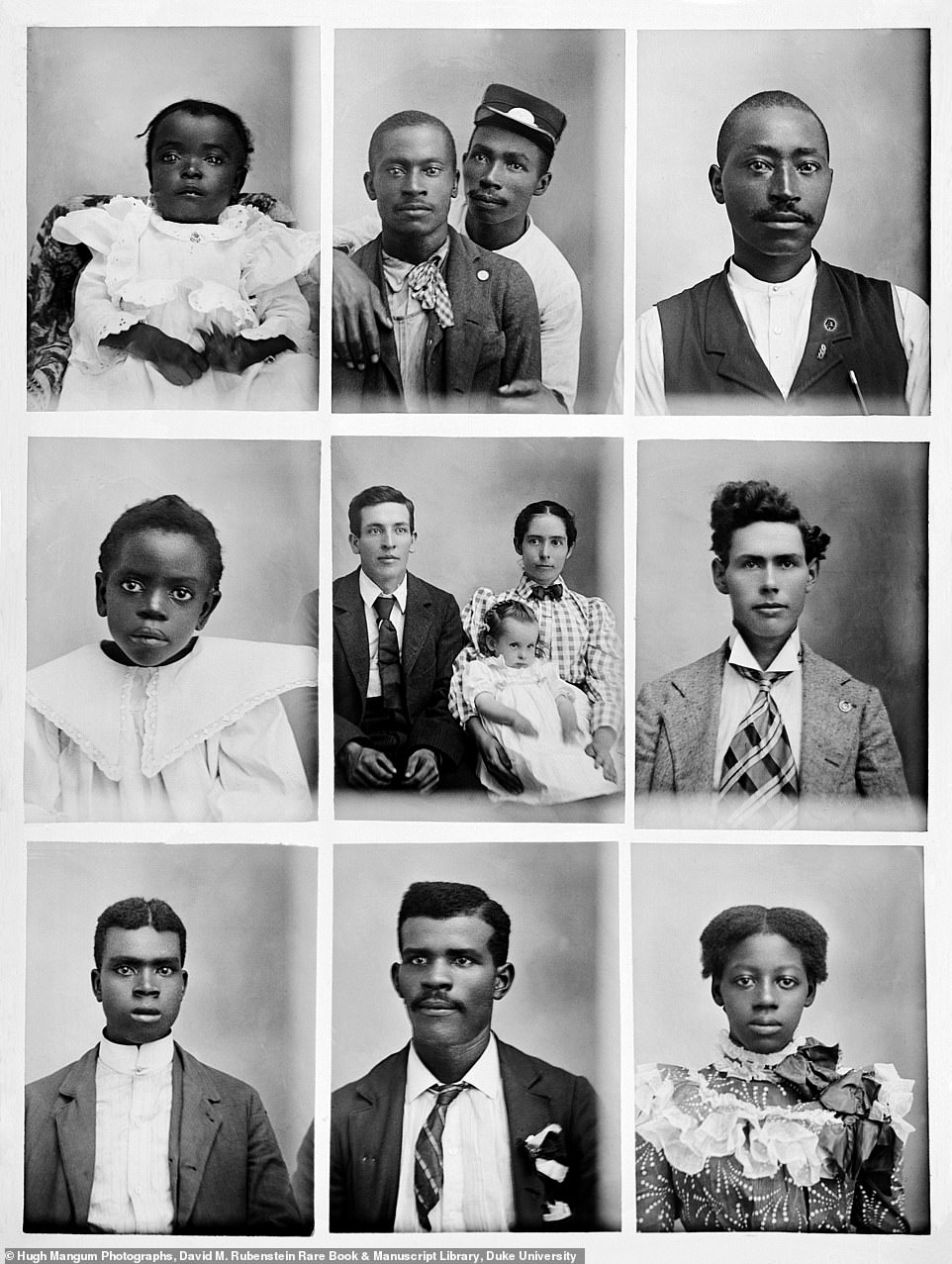 These series of portraits were likely taken in Durham, North Carolina, where Mangum began his career. The city was known to have a prosperous black community with black-owned businesses such as furniture shops, cigar and tobacco factories, textile and lumber mills as well as brickyards and barbershops