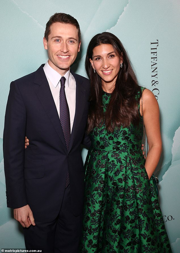 Stepping out: Racing royalty Tom Waterhouse and wife Hoda scrubbed up for the occasion