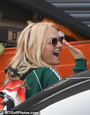 Reunited: Mel C and Emma Bunton were seen heading into the studio to work on their moves, but Mel B was a no-show after she made those lesbian fling claims about Ginger Spice