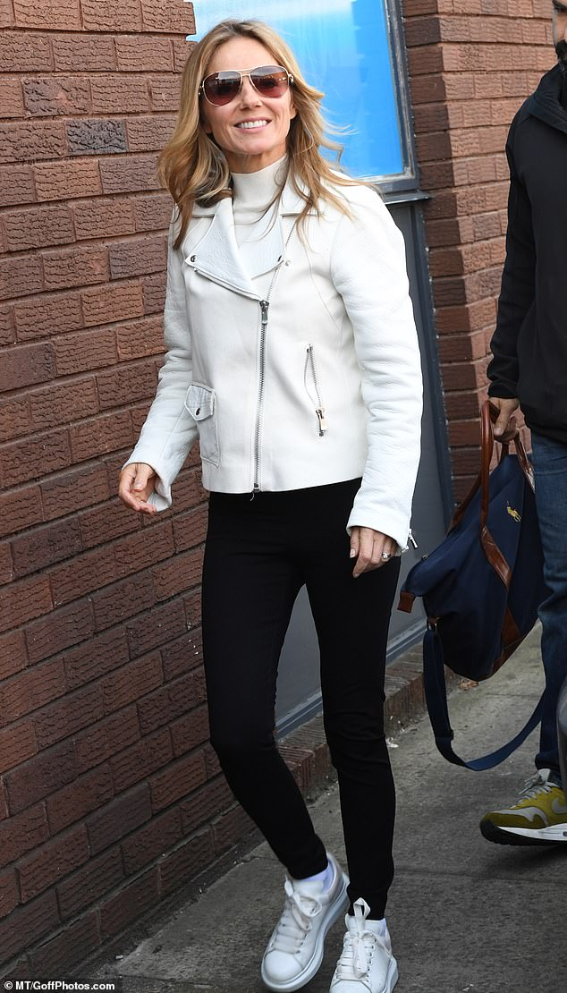Back to work:The sultry snap came just hours after the Spice Girls reunited publicly for the first time in months on Monday as they hit rehearsals ahead of their upcoming tour