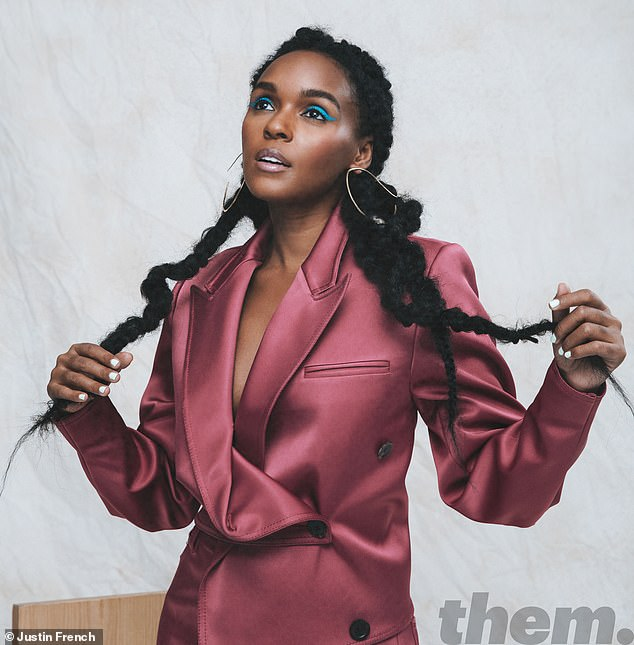 Scared: Janelle said that she was always told she would 'go to hell' if she was anything other thanheterosexual