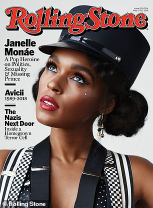 Memorable: The artist came out as pansexual in an interview with Rolling Stone in April 2018, in which she referred to herself as a 'free-a** motherf***er'