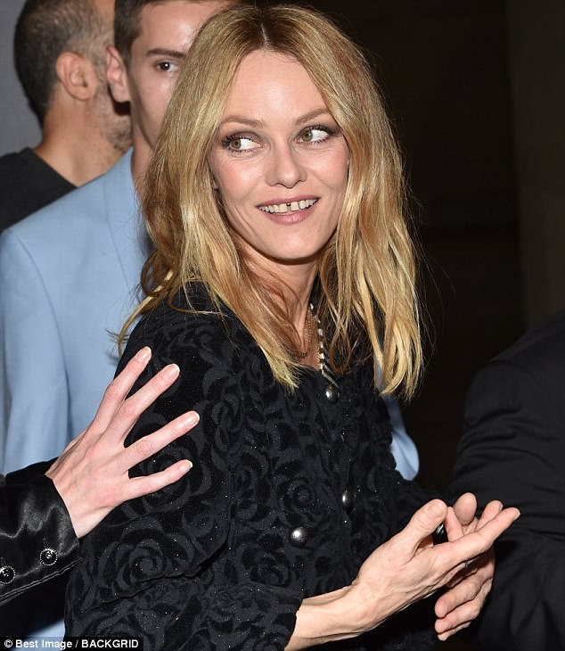 Timeless beauty: Age is nothing but a number for 45-year-old Vanessa Paradis as she attended the Un Couteau Dans Le Coeur film premiere in Paris on Monday