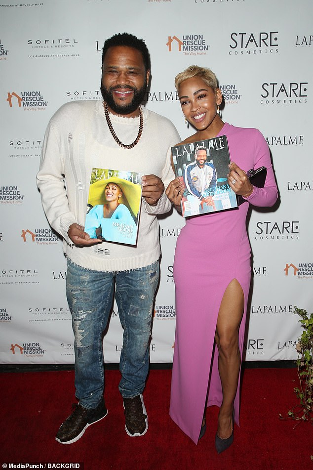In the spotlight: Maks and Peta along with Megan are each featured in the spring issue of the online magazine LaPalme. So, too, is Black-ish star Anthony Anderson