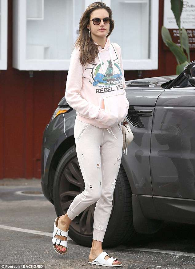Her favorite spot: On Monday, Alessandra Ambrosio, 37, was seen out in Brentwood, CA