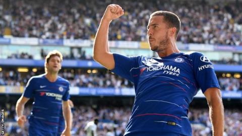 Eden Hazard has now scored five goals in his past three Premier League games for Chelsea