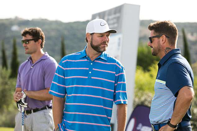 Westlife singer Brian McFadden joins Boyzone's Keith Duffy and Rugby's Thom Evans on the Costa Navarino golf course